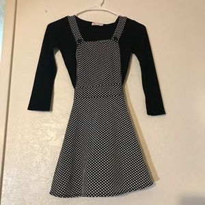 Size M (10) 2-Pc Outfit I Heart Pinc Overall Dress